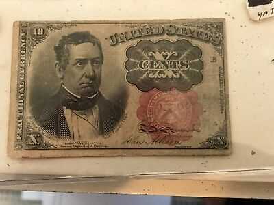 series of 1874  10 cent paper money