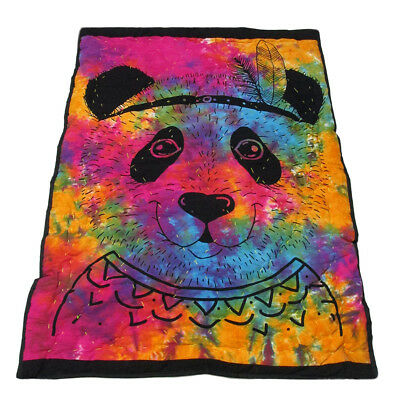 New Handmade Baby Quilt Multicolor Panda Printed Coverlet With 100%Cotton Filled
