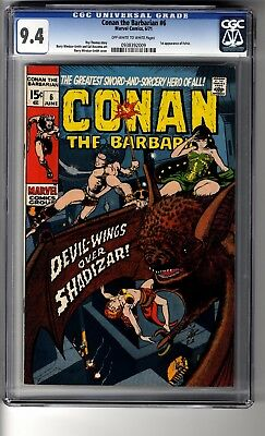 Conan the Barbarian # 6 CGC 9.4 OW/White Pages - First appearance of Fafnir