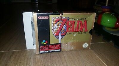 The Legend of Zelda: A Link to the Past SNES Box & Inlay ONLY PAL *HALF SEALED*