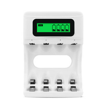 Smart AA AAA Battery Charger with USB Cable, Mini Battery Charger for Ni-MH