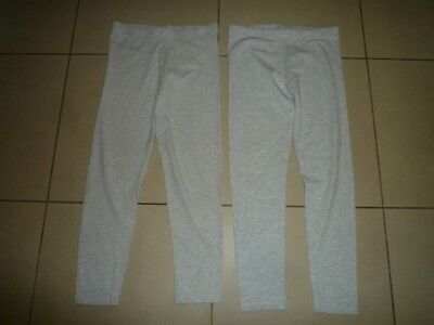 George (Asda) - 2 Grey Pairs Of Leggings (11-12 Yrs) - Used Condition