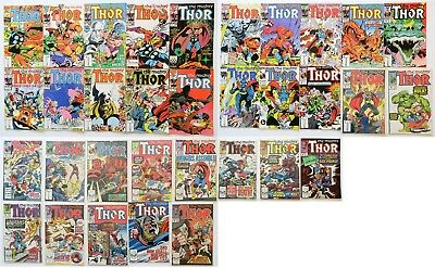 The Mighty Thor Marvel Comics Group Comic Book Lot of 33 1985