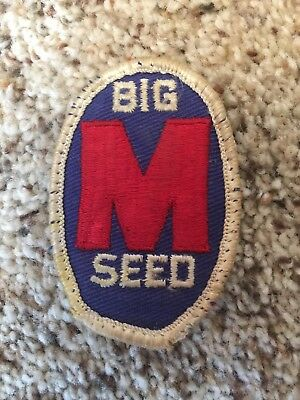 Vintage Big M Seed Corn Embroidered See-on Patch