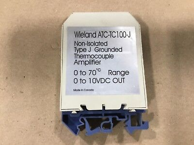 Wieland ATC-TC100-J Thermocouple Amplifier Non-Isolated 0 To 70 #102C16
