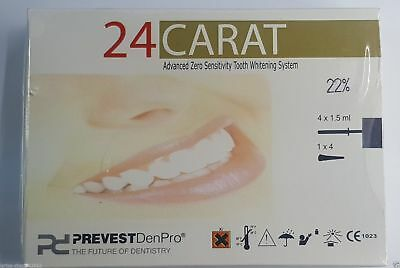 2 x 24 Carat Advance Dental tooth whitening system home Bleach Prevest Free Ship