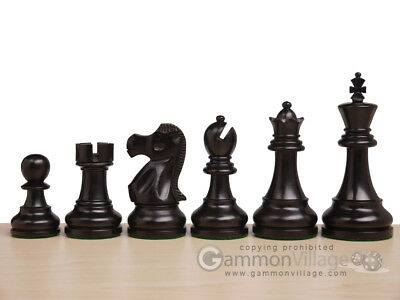 *NEW* Elite Series Classic 3x Weighted Staunton Black Wooden Chess Pieces