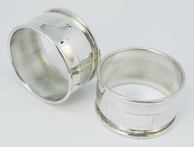 Fine PAIR Vintage SILVER PLATE NAPKIN RINGS