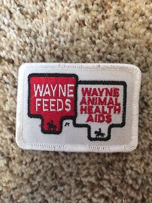 Vintage Wayne Feeds Embroidered Sew-on Patch