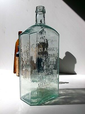"""""""Only 75 cts Clarke's Vegetable Sherry Wine Bitters, Sharon, Mass"""". OP & 11.75"""""""
