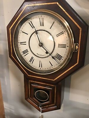 Antique American Wall clock By Seth Thomas (8 Day Movement).