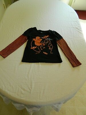 Unbranded Girls Halloween Long Sleeve Shirt Size 10-12 ~fits like a 8-10~
