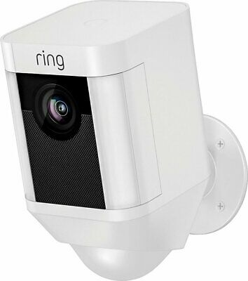 Brand New Ring Spotlight Cam Outdoor Battery-Powered Security Camera - White