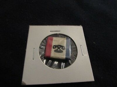 Wow! Early 1900's Telephone Lapel Pinback Red, White, And Blue!