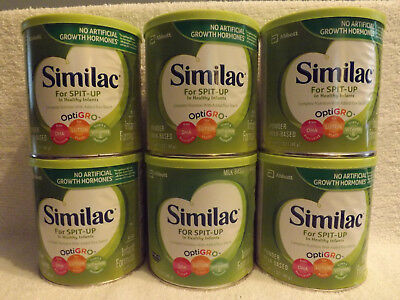 SIMILAC FOR SPIT-UP BABY FORMULA--(6) CANS--12 oz--BRAND NEW--FREE SHIPPING