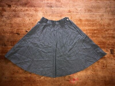 "VINTAGE Girls Gray Skirt SIZE Waist 21"" 80s 1980s"