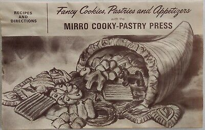 Vtg MIRRO COOKY-PASTRY INSTRUCTION BOOKLET ONLY Cake Decorating Directions