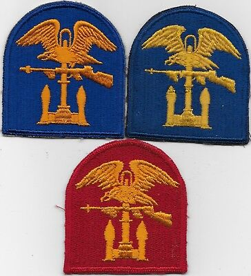 "(3) Rare Orig Wwii/kw ""army & Navy Amphib Forces"" Variation Patches - All F/emb"