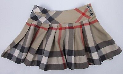 Burberry Children Girls Plaid Check Pleated Skirt Size 110 5 Years