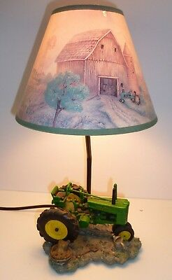 1999 JOHN DEERE Table Lamp Light Desk Lamp Tractor with Shade WORKS Windmill