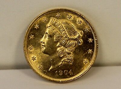 1904 Liberty Head Double Eagle $20 Gold Coin Good Condition Free Shipping Read