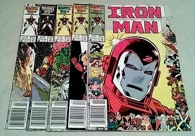 IRONMAN #212,213,214,214,216 [5 Issues] All Newsstand