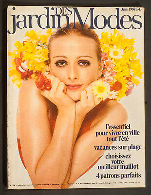 'jardin Des Modes' French Vintage Magazine Summer Issue June 1968