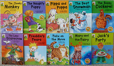 Leapfrog Book Collection - 10 Paper Back Books Including Felix On The Move