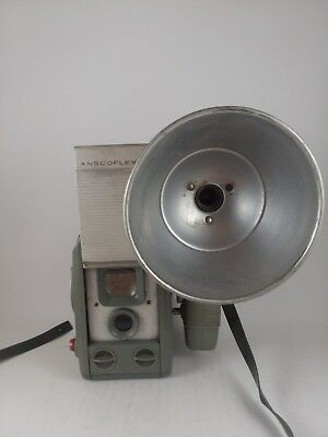 Vintage Anscoflex II Camera With Flashlamp