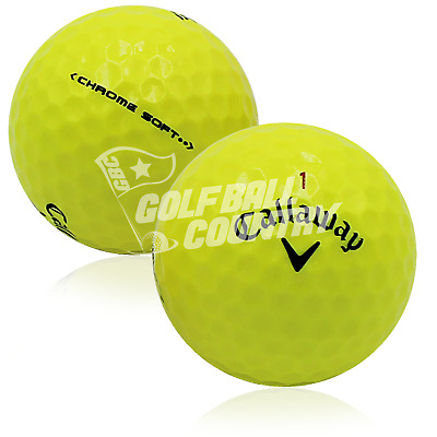 24 Callaway Chrome Soft Yellow AAA (3A) Used Golf Balls - FREE Shipping