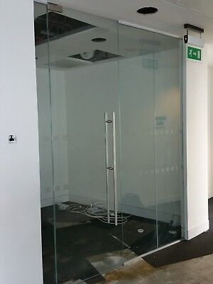 2.22 METRE WIDE SINGLE OFFICE TOUGHENED GLASS PARTITION SYSTEM FOR £220 inc VAT