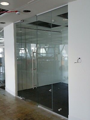 2.45 METRE WIDE SINGLE OFFICE TOUGHENED GLASS PARTITION SYSTEM FOR £245 inc VAT