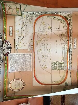 Centennial Celebration Poster Indianapolis Indy 500 2009-11 Map Of Ims Speedway