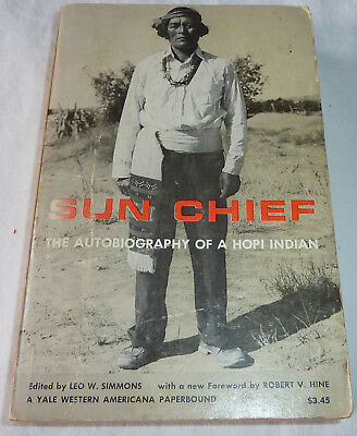 Sun Chief The Autobiography Of A Hopi Indian Softcover 1970 Yale Western