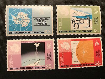 BRITISH ANTARCTIC TERRITORY #82-85 MNH 20th ANNIV. OF ANTARCTIC TREATY
