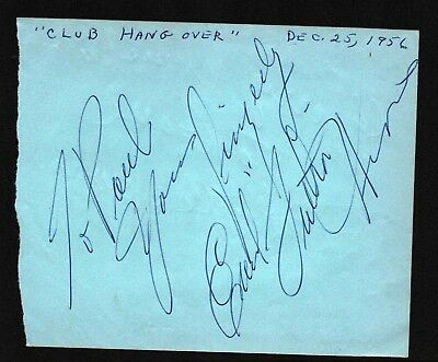EARL HINES Hand Signed Autographed Clip w/COA - JAZZ PIANIST