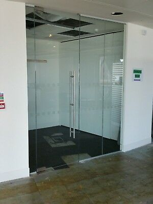 2.19 METRE WIDE SINGLE OFFICE TOUGHENED GLASS PARTITION SYSTEM FOR £220 inc VAT