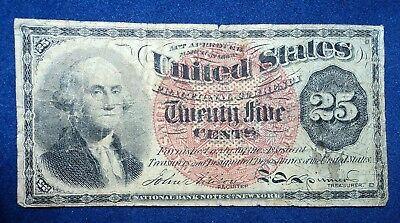 1863 25c Fractional Currency Bank Note