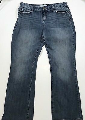 Womens Maurices Boot Cut Distressed Blue Jeans, Size 9/10 Regular