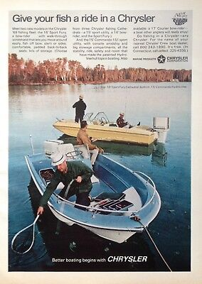 1969 Ad(Odl35)~Chrysler Marine Products Corp. 16' Sport Fury Fishing Boat