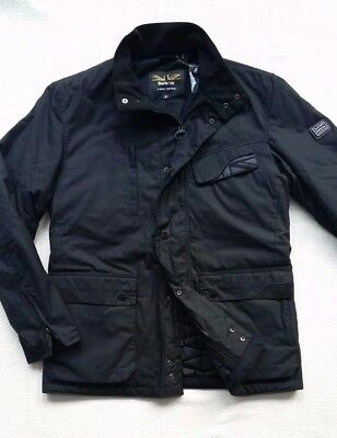 Barbour X Land Rover Men's Tipalt Waxed Cotton Jacket - Black, Size Medium