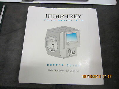 Manual for Zeiss Humphrey 720,740,750: no packing, pickup or freight only