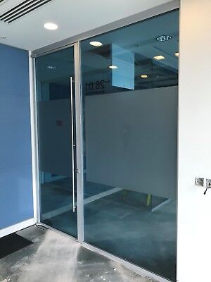 1.44 METRE WIDE SINGLE OFFICE TOUGHENED GLASS PARTITION SYSTEM FOR £145 inc VAT