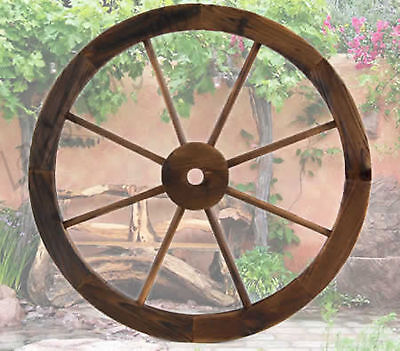 Large Wooden Outdoor Wagon Wheel Timber Garden Decor Feature Rustic Style Art