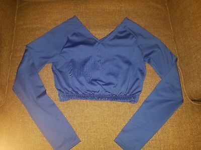 Royal Blue Cheer Crop Top Size Adult Small