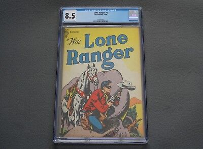 1948 THE LONE RANGER #2 CGC 8.5 Golden Age Western Comic Book Dell Publishing