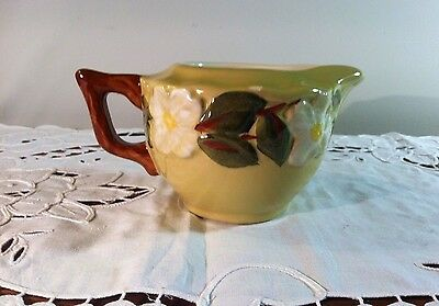 Stangl White Dogwood Creamer Green Excellent Condition 10oz