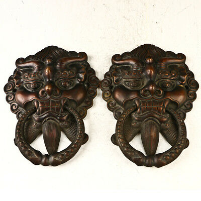 Antique 19th Century Door Knocker  Kirin Folk Art Interior Decorator GL1129