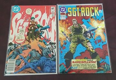 SGT Rock #1 (Oct 1992, DC) NM & SGT Rock #376 (May 1983 DC) VF/NM