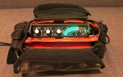 Sound Devices 302 portable audio field mixer with Petrol field mixer bag